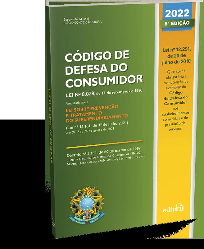 Código de Defesa do Consumidor – SUPERATUALIZADO até 26 de AGOSTO de 2021